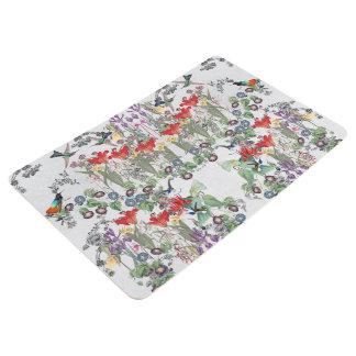 Hummingbird Birds Flowers Garden Floor Mat