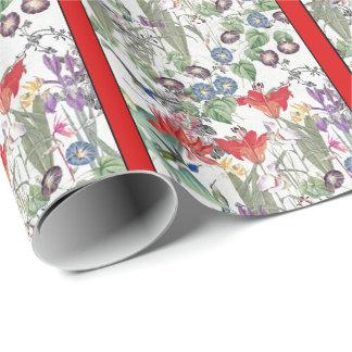 Hummingbird Birds Flowers Garden Wrapping Paper