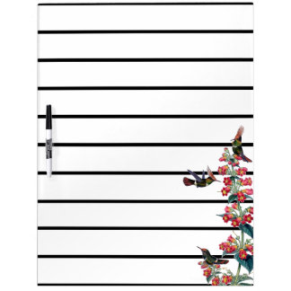 Hummingbird Birds Flowers Planner Dry Erase Board