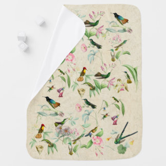 Hummingbird Birds & Flowers Wildlife Baby Blanket