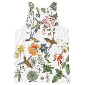 Hummingbird Birds Wildlife Animal Flower Floral All-Over Print Tank Top