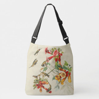 Hummingbird Birds Wildlife Animal Flowers Tote Bag