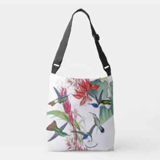 Hummingbird Birds Wildlife Animal Flowers Tote Bag