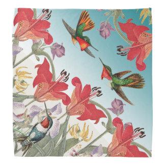Hummingbird Birds Wildlife Flowers Ombre Bandana