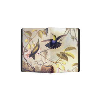 Hummingbird Birds Wildlife Flowers Passport Holder