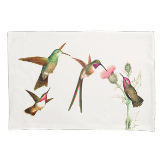 Hummingbird Birds Wildlife Flowers Pillowcase