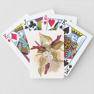 Hummingbird Birds Wildlife Flowers Playing Cards