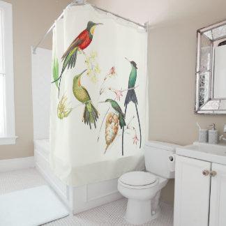 Hummingbird Birds Wildlife Flowers Shower Curtain