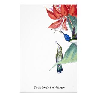 Hummingbird Birds Wildlife Flowers Stationery