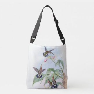 Hummingbird Birds Wildlife Orchid Flowers Tote Bag