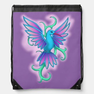 Hummingbird blue pink rucksacks