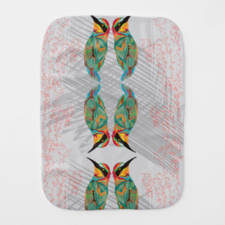 Hummingbird Burp Cloths