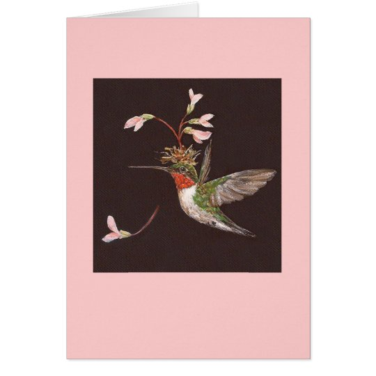 hummingbird card, Ozzie Card