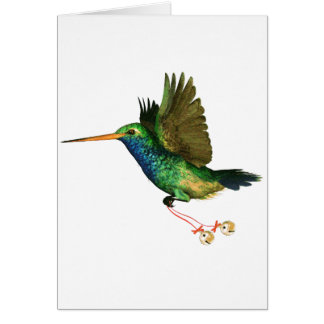 Hummingbird Christmas Greeting Card