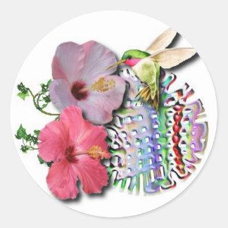 Hummingbird Classic Round Sticker
