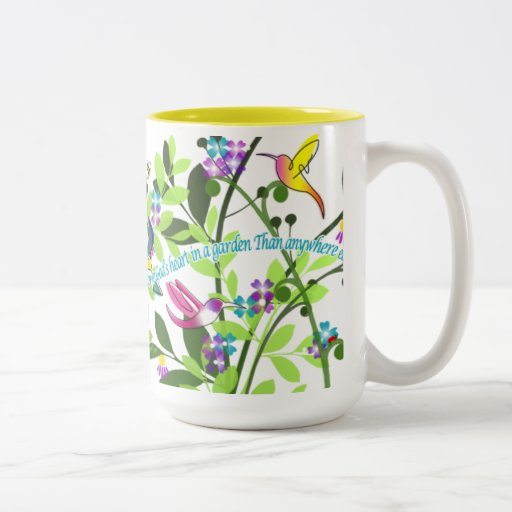 Hummingbird Coffee Mug 15 oz Yellow