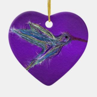 Hummingbird drawing christmas ornament