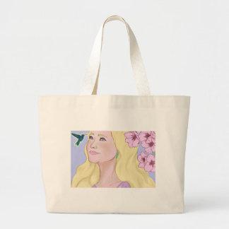 Hummingbird dreams large tote bag