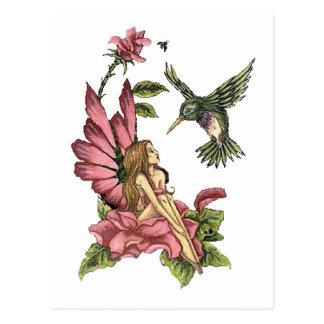 Hummingbird Fairy Postcard