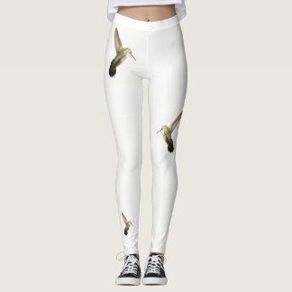 Hummingbird  Fashion Leggings-Women-White Leggings