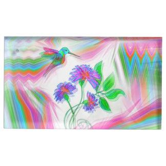 Hummingbird Flight Kaleidoscope Place Card Holder