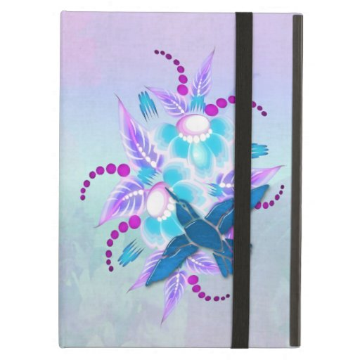 Hummingbird Floral Art Deco Cover For iPad Air