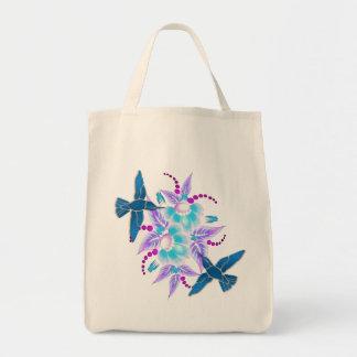 Hummingbird Floral Art Deco Bags