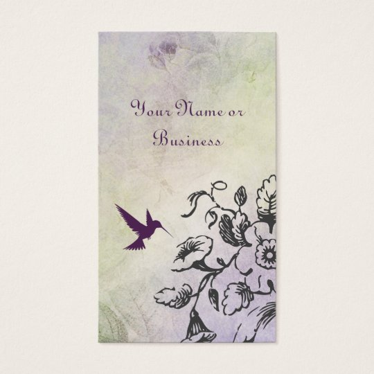 Hummingbird Floral Business Personal Calling Cards