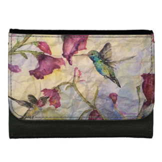 Hummingbird Floral Original Art Wallet