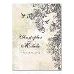 Hummingbird Floral Wedding Invite Reception & RSVP