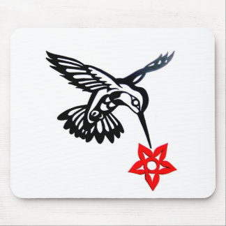 Hummingbird & Flower Mouse Pads