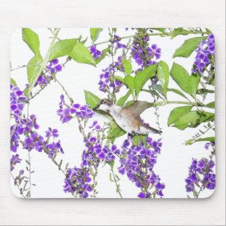 Hummingbird Flower Mousepad