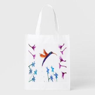 Hummingbird flowers Art