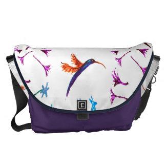 Hummingbird flowers Art Commuter Bag