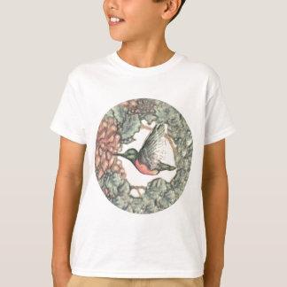 Hummingbird & Flowers T-Shirt