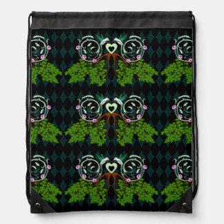 Hummingbird Forest Drawstring Bags