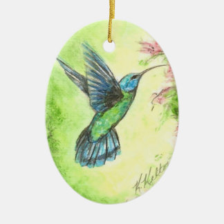 Hummingbird Garden Christmas Ornament