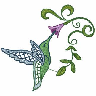 Hummingbird Garden Embroidered Hoodies
