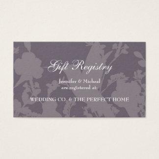 Hummingbird Garden Plum Elegant Gift Registry Card