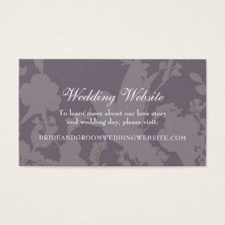 Hummingbird Garden Plum Elegant Wedding Website Business Card