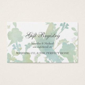 Hummingbird Garden Watercolor Gift Registry Card