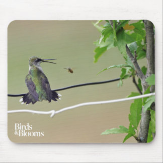 Hummingbird & Honey Bee Mouse Pad