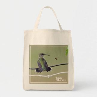 Hummingbird & Honey Bee Tote Bag