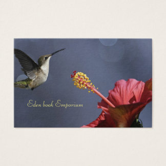 hummingbird ibiscus business card