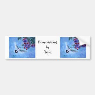 Hummingbird In Flight Bumper Sticker
