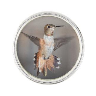 Hummingbird In Flight Lapel Pin