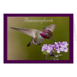 Hummingbird in Flight Note Card