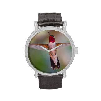 hummingbird in flight wristwatch