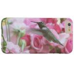 Hummingbird in pink spring flowers barely there iPhone 6 plus case