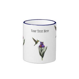 Hummingbird Iris Flower Mug